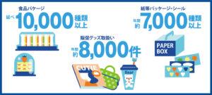 廣川で取り扱う「食品パッケージ」は延べ10,000種類以上